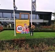 Jikke Winia 40 jaar werkzaam bij KBC in Scharnegoutum