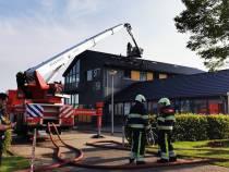 Veel schade door uitslaande brand in gebouw van Watersport Vereniging Heeg