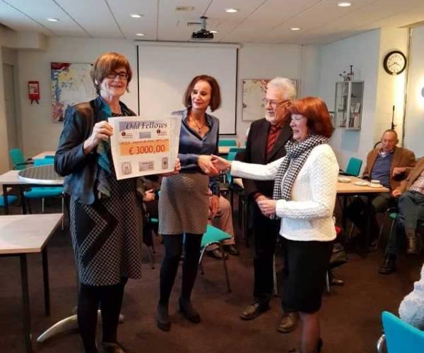 Drie duizend euro Odd Fellowloges voor Hopice de Kime