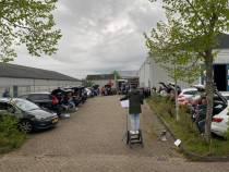FOTO'S / Muziekvereniging Concordia houdt drive-in repetitie