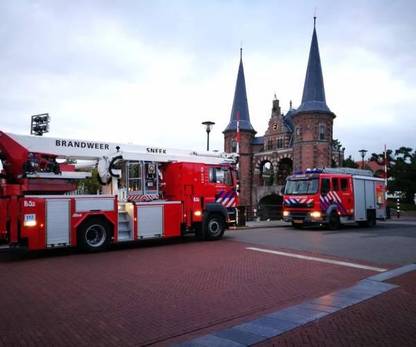 De brandweer van Sneek had een aantal drukke dagen