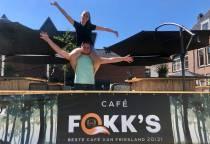 Horecaondernemer Fokke Hiemstra van Café Fokk's ziet de toekomst na Corona weer zonnig in