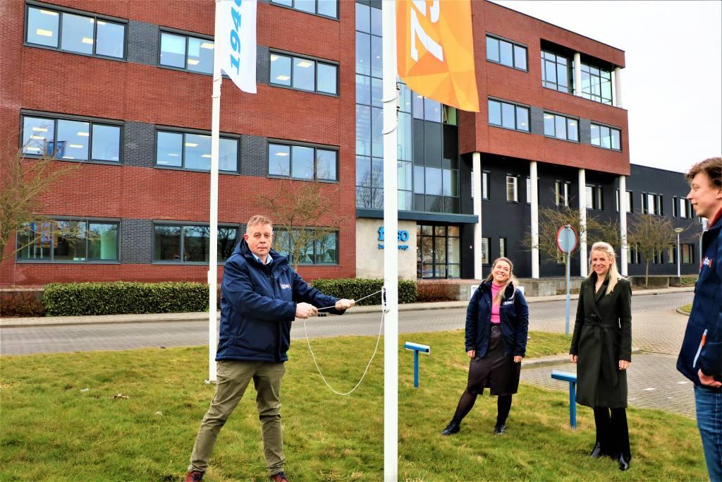 Henk Dedden, Nynke Dedden, Esther Lakerveld en Egbert Abbink, werkvoorbereider bij Friso