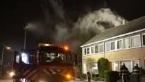 Zolderbrand in huis aan de Jancko Douwamastraat