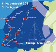 Donderdag start van unieke uitdaging: de Elfstedentocht met een skûtsje
