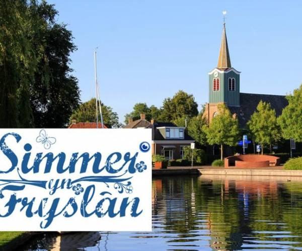 Omrop Fryslân mei Simmer yn Fryslân freed de hiele dei yn Aldegea, Idzegea en Sânfurd
