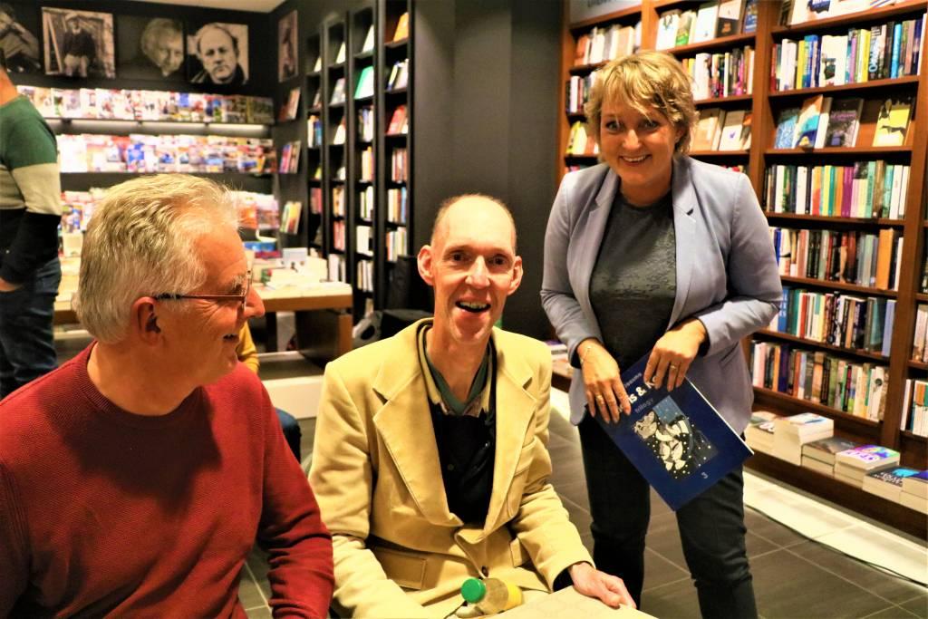 Utgever Hille Faber, Theo Jaasma en Mirjam Bakker
