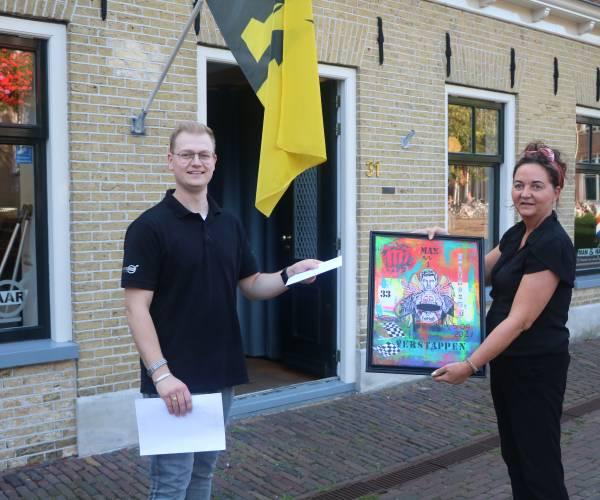 Opbrengst Mixt Media Max Verstappen kunstwerk voor de orgelman van Sneek