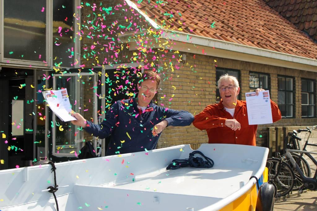 Links Jaap van der Meer en naast hem Wim van der Klauw