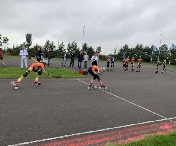 Skeelerwedstrijden voor de jeugd bij De IJsster