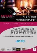 JCI Sneek organiseert 19 november de jaarlijkse wijnproeverij, dit jaar met een culinair accent