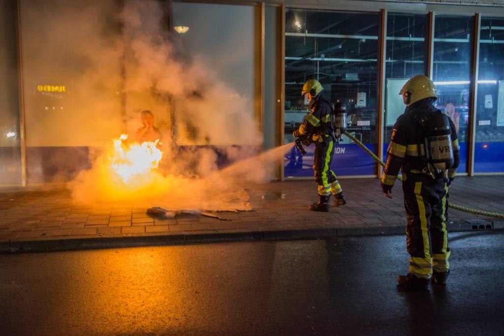 Buitenbrand Op Normandiaplein In Sneek Groot Sneek