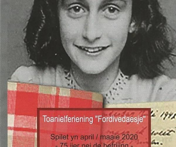 Toneelvoorstelling 'It Deiboek Fan Anne Frank' gaat ook in 2021 niet door