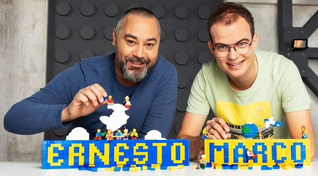 Lego show van Lego Masters Ernesto en Marco in De Stolp