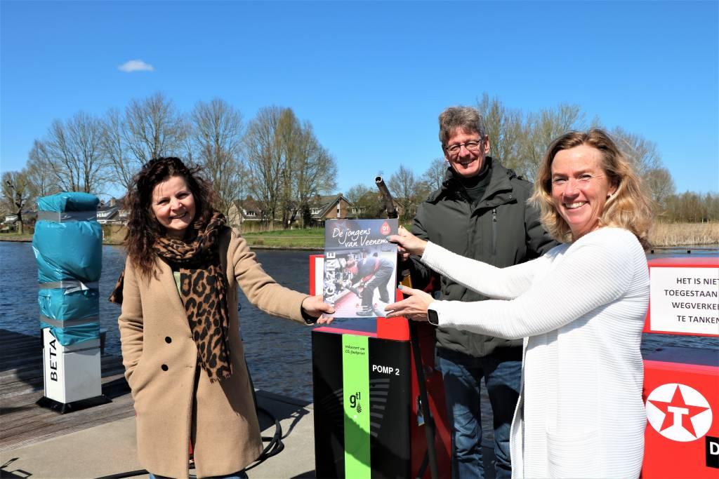 Links Marianne Bouwman, Harold Veenema en Rigine Bolt