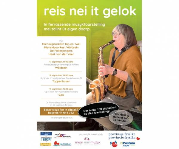 'Reis nei it Gelok':Samen muziek maken, maakt gelukkig!