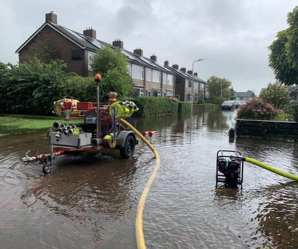 Flinke wateroverlast in Woudsend
