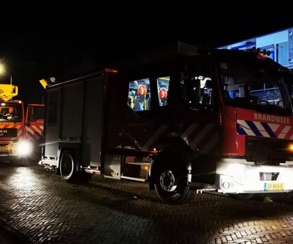 Woningbrand Van Brunswijkstraat in Sneek