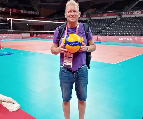 Koos Nederhoed in Tokio bij Olympische Spelen