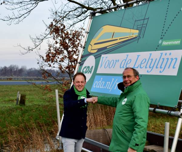 CDA voert actie langs A7 voor Lelylijn