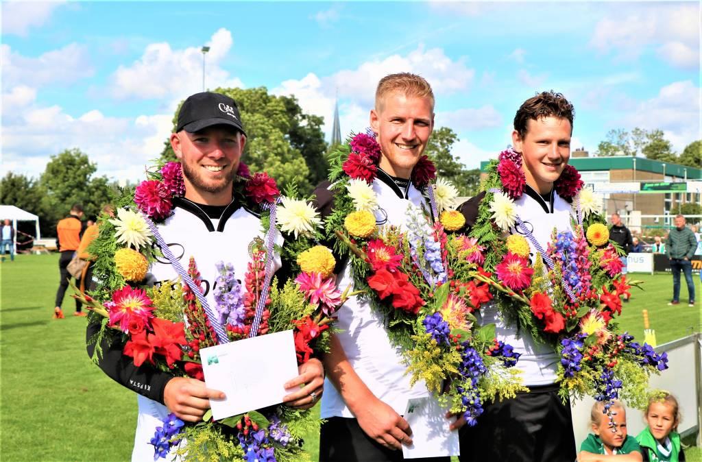 Van links naar rechts: Dylan Drent, Hendrik Kootstra en Marten Bergsma