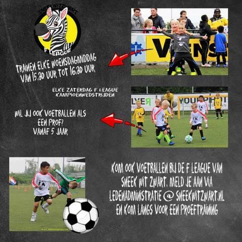 Kom voor 15 euro voetballen bij VV Sneek Wit Zwart